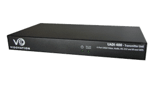 UADI-400-TX Trasmitter to Extend VGA, Stereo Audio signals, RS232 or IR to 4 locations Category 5 Unshielded Twisted Pair UTP cables