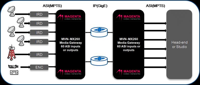 VGW-5100 openGear ASI to IP Encapsulation & De-encapsulation Media Gateway
