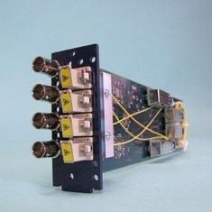 FVT/FVR-5400-3G, VidOptic Series, 4 Channel 3G HDSDI Fiber Optic Transport Card with 4x4 Matrix for openGear