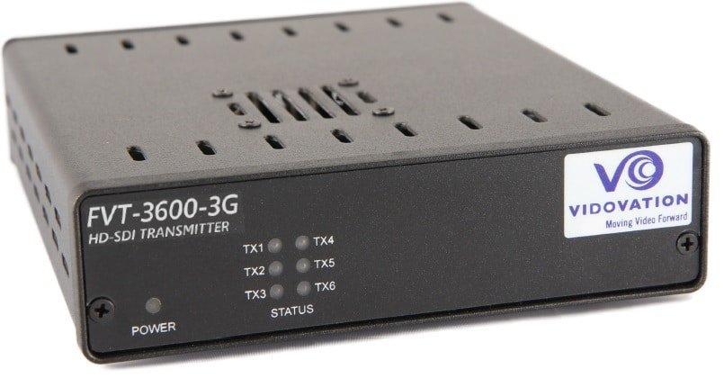 VidOptic FVT/FVR-3600 Fiber Optic Transport for up to 18 3G HD SDI Video on ONE fiber