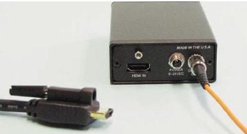 FVT-1100-HDMI - Bi-Directional Uncompressed HDMI/DVI-D Over Single Multimode Fiber Transmitter - VidOptic Series