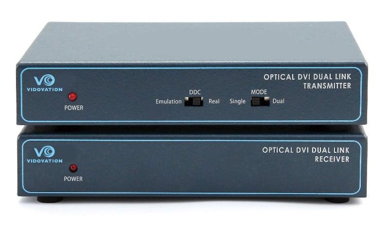 FOE-1200-DVI Fiber Optic Extender Dual Link 2 Channel