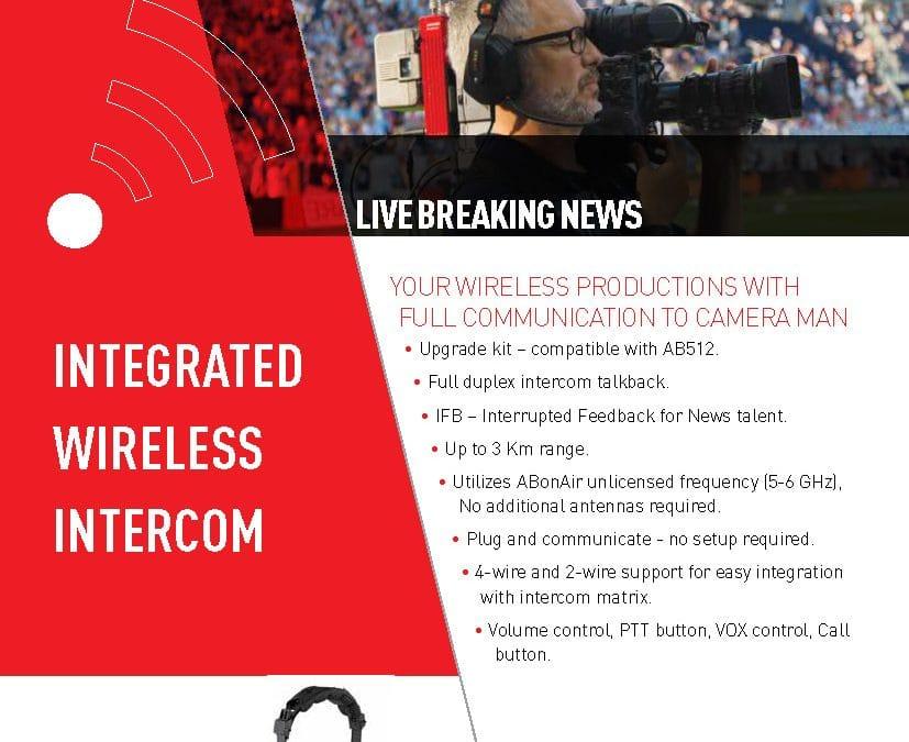 ABonAir Wireless Intercom Datasheet