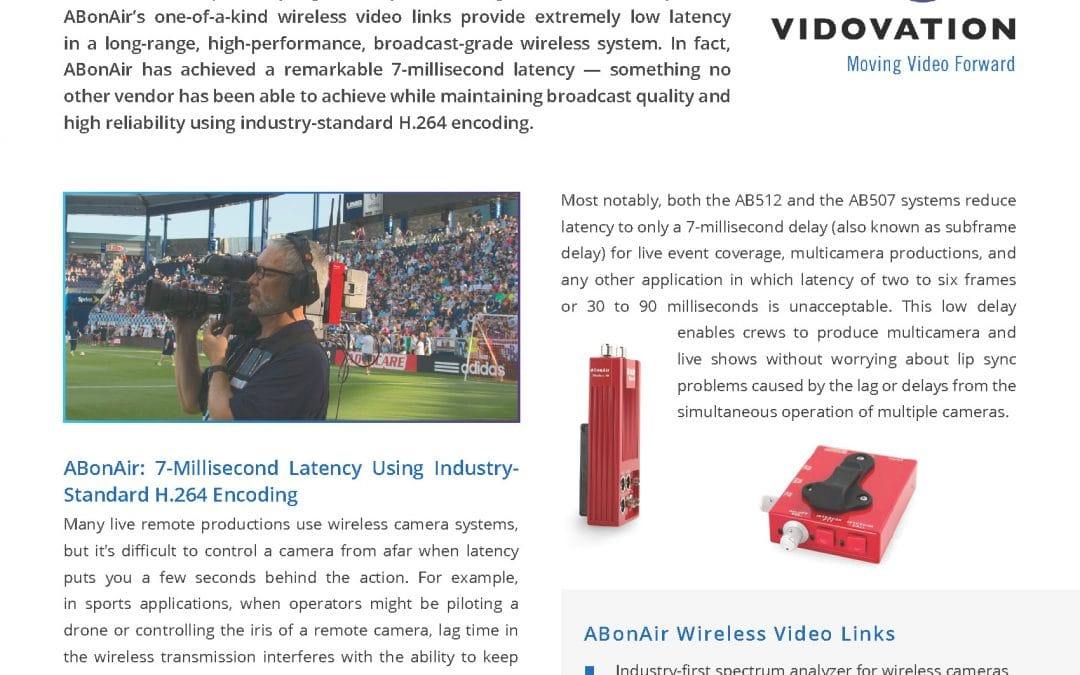 ABonAir Wireless Camera Link Application Note by VidOvation