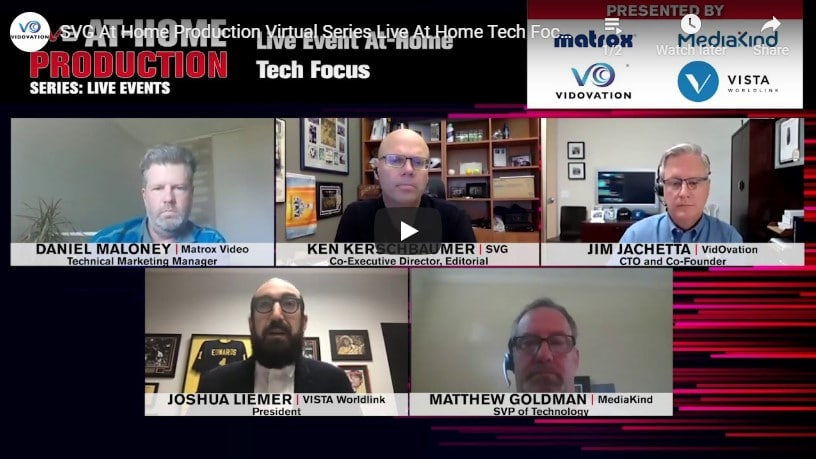 SVG At-Home Production Virtual Series Live At-Home Tech Focus