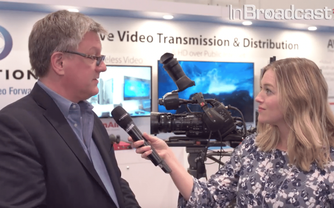 Best of Show NAB 2018 HEVC Bonded Cellular Video Uplink  & 7 msec Delay Wireless